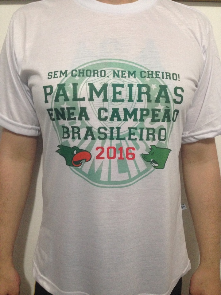 Camiseta palmeiras Enea Campeão Brasileiro 2016 - Horror Empório eafca959a0516