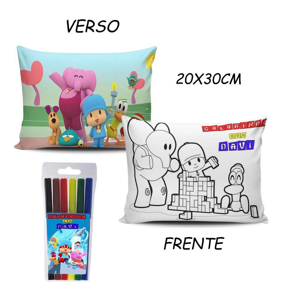 Lembrancinha Pocoyo - Almofada Pinte e Lave 20x30cm