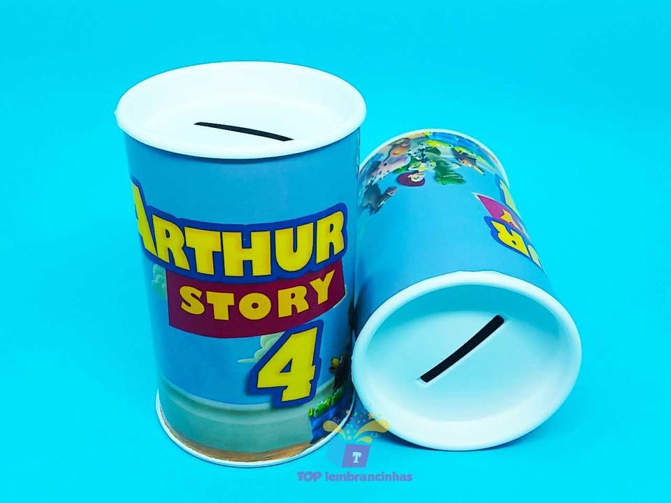 Lembrancinha cofrinho personalizado Toy Story 11x6 cm
