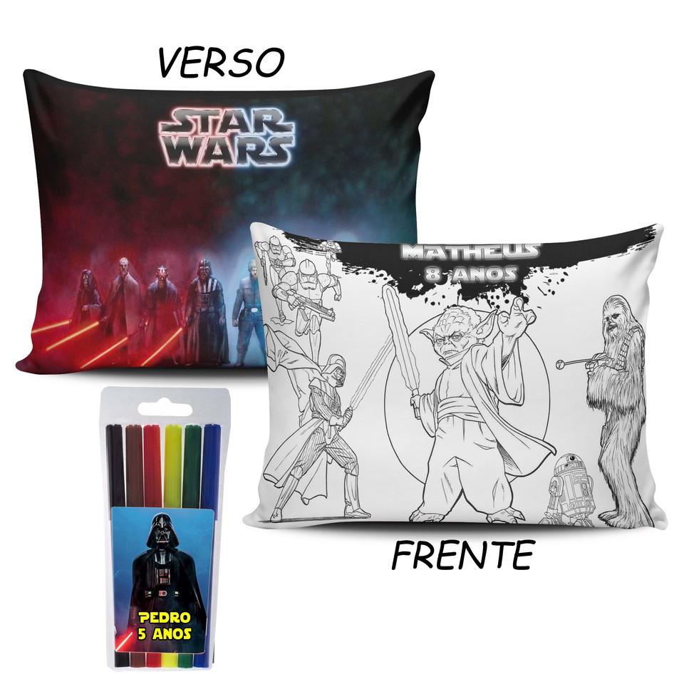 Lembrancinha Star Wars - Almofada Pinte e Lave 30x40cm Modelo 2