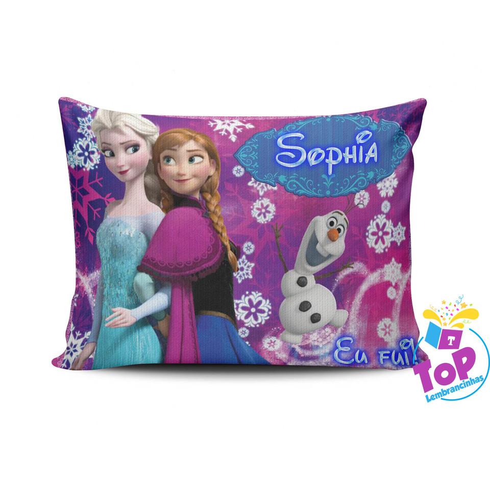 Lembrancinha Frozen - Almofada personalizada 15x20cm Modelo 2