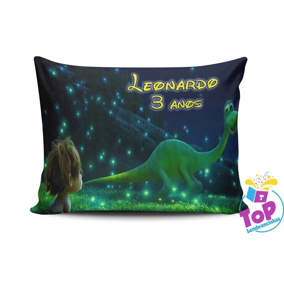 Lembracinha O Bom dinossauro - Almofada personalizada 15x20cm Modelo 2