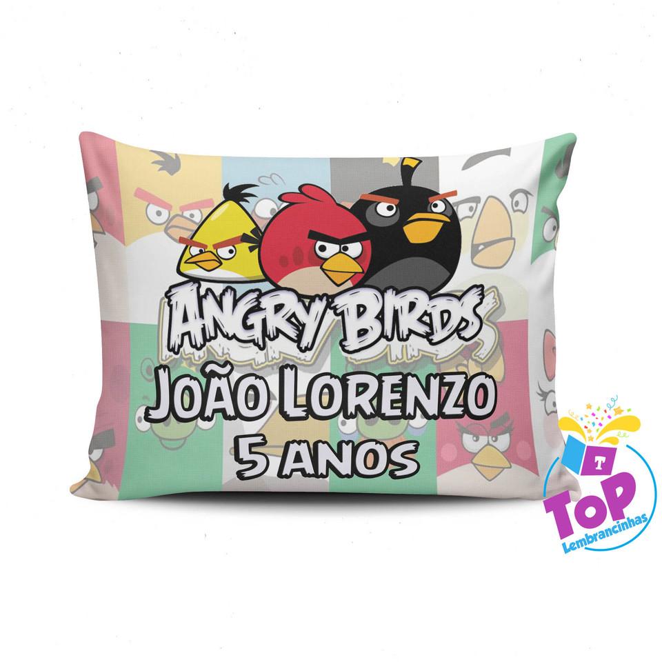 Lembrancinha Angry Birds - Almofada personalizada 15x20cm