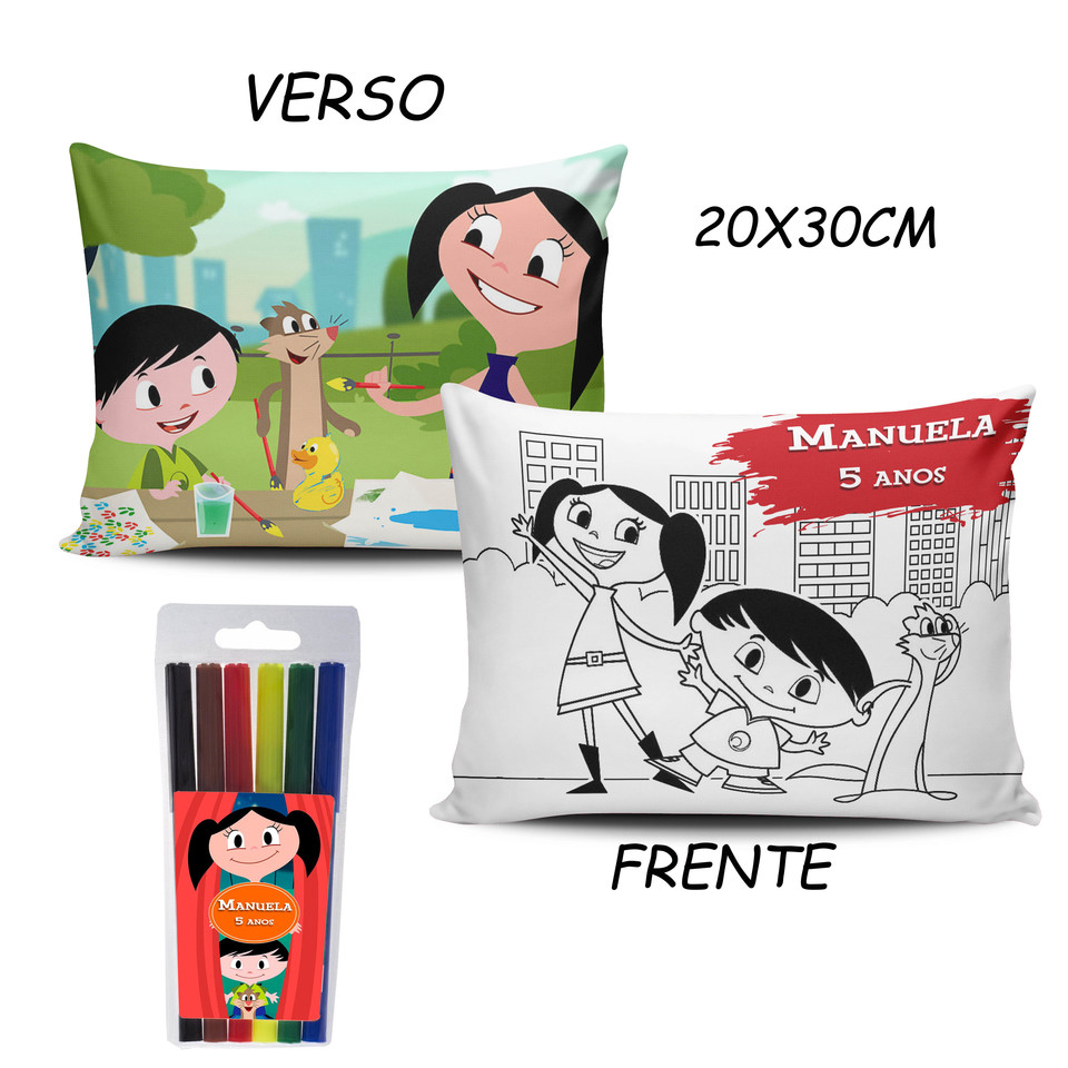 Lembrancinha Show da Luna - Almofada Pinte e Lave 20x30cm