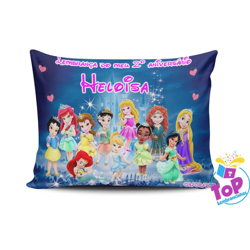 Lembrancinha Princesas Baby - Almofada personalizada 15x20cm Modelo 1