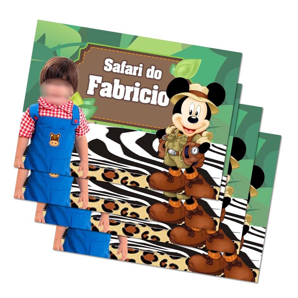 Lembrancinha Mickey Safari - Imã de geladeira 7x5cm