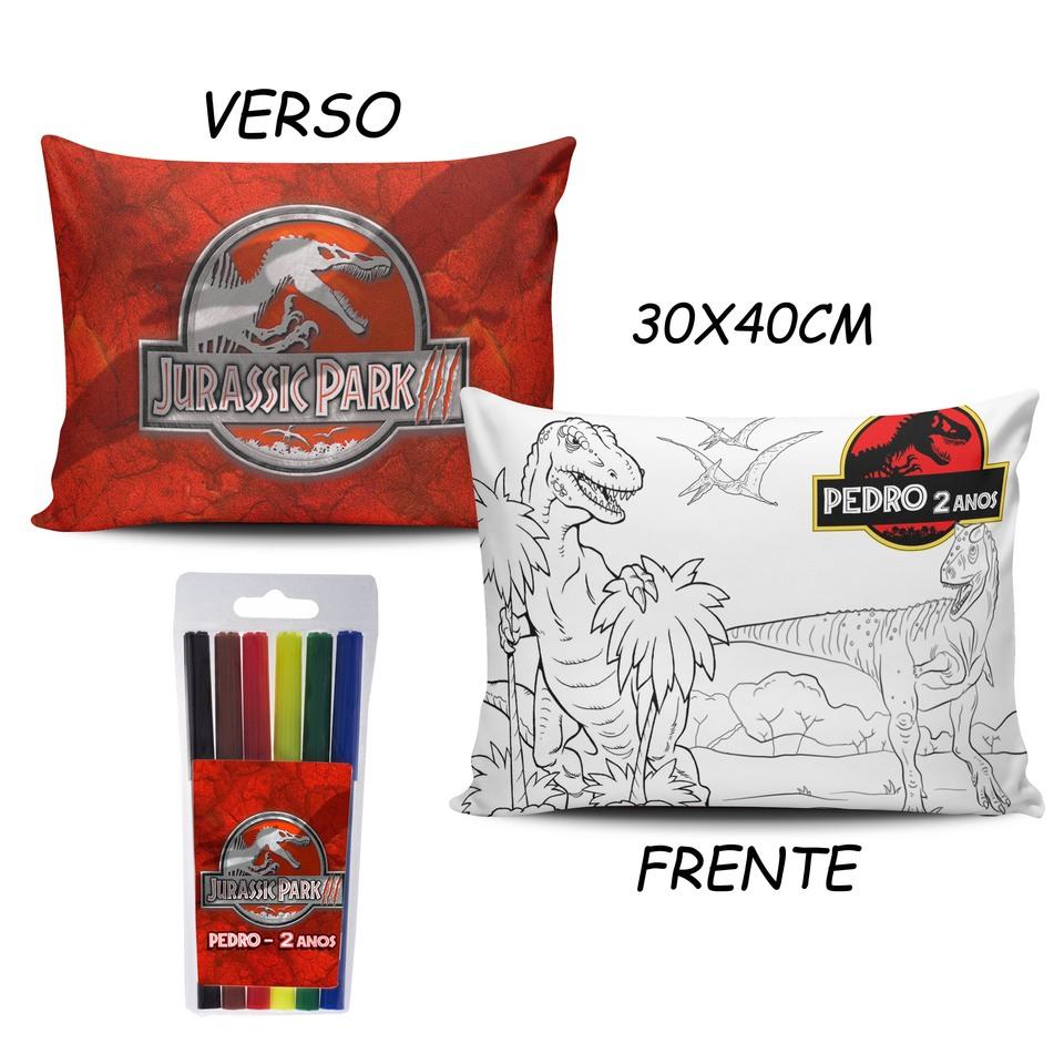 Lembrancinha Jurassic Park - Almofada Pinte e Lave 30x40cm