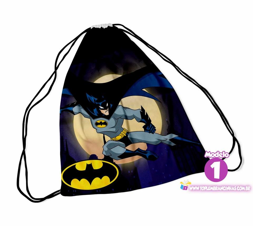 Mochila saco Batman 20x30 cm -  Lembrancinha