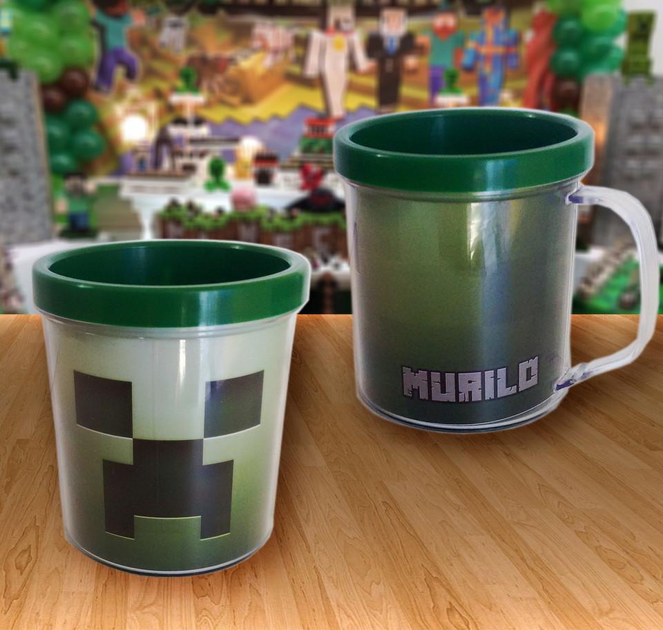 Caneca acrílica Minecraft - Modelo 1