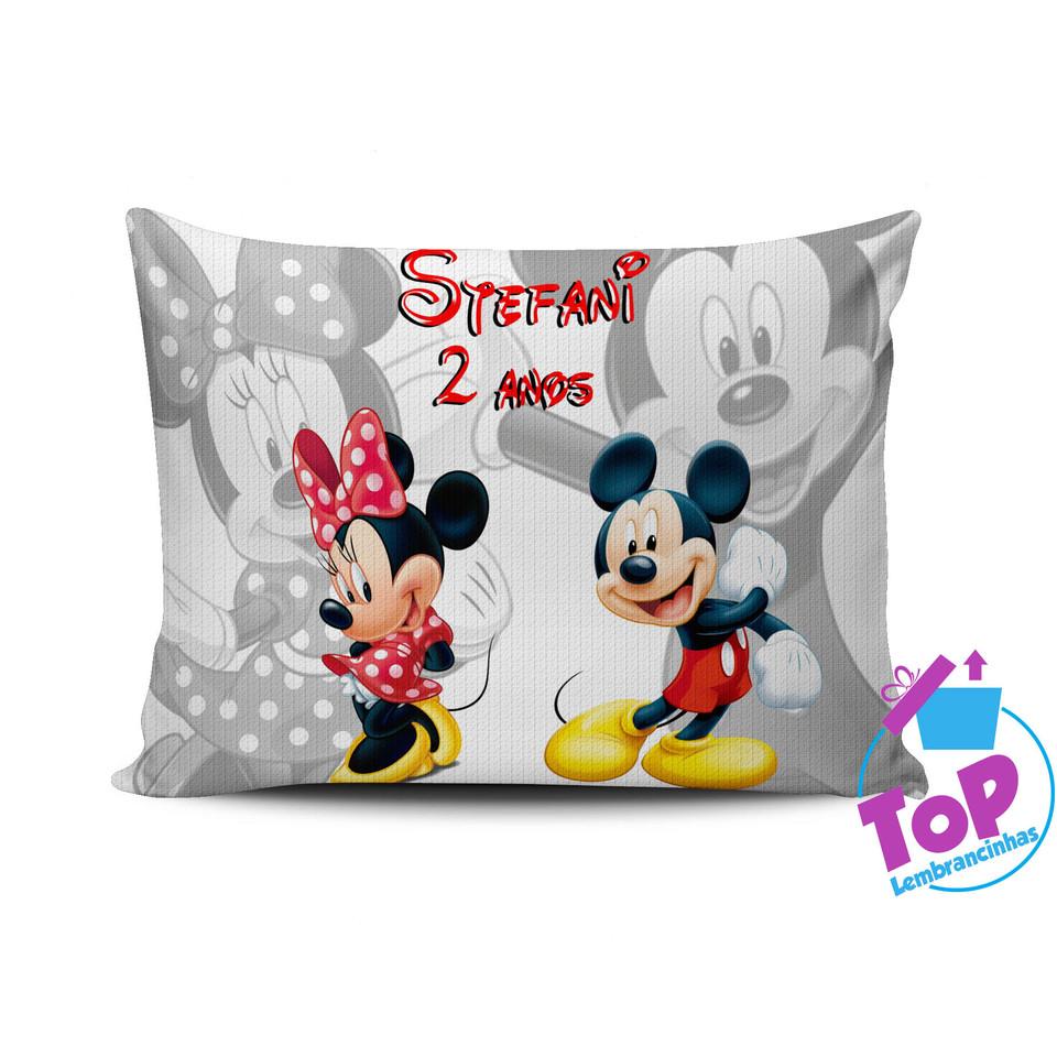 Lembrancinha Mickey e Minnie - Almofada personalizada 20x30cm Modelo 2