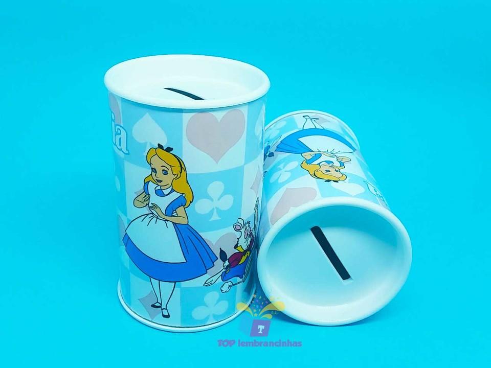 Cofrinho Alice no país das Maravilhas em Desenho 11x6 cm