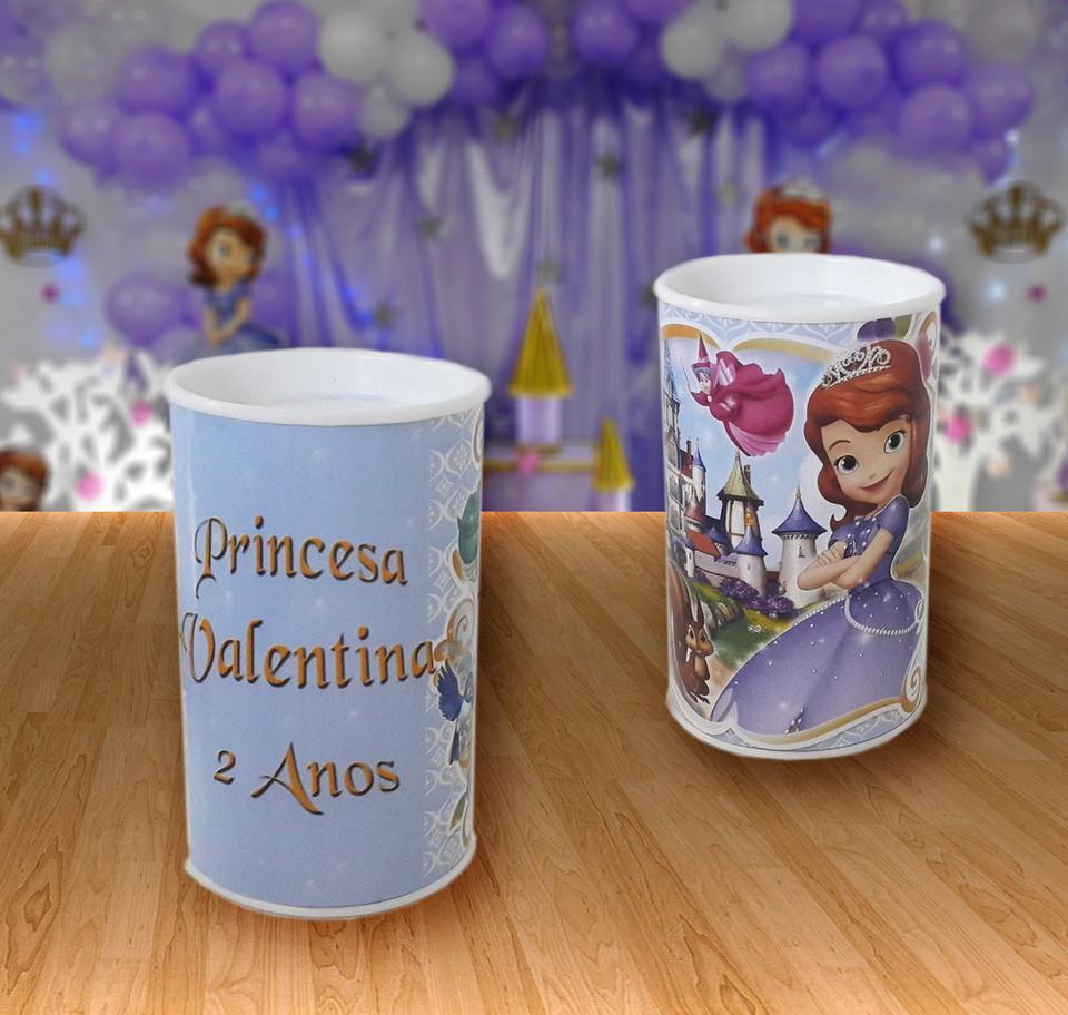 Cofrinho lembrancinhas Princesa Sofia