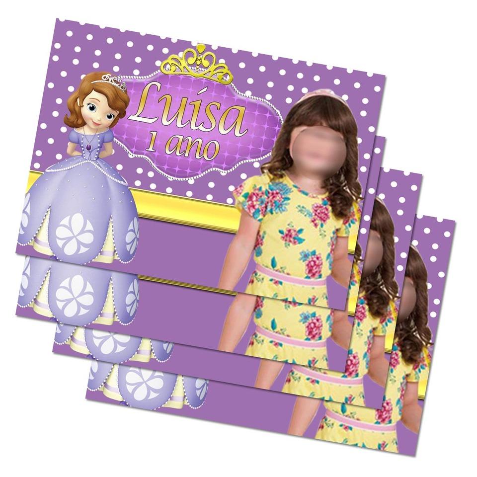 Lembrancinha Princesa Sofia - Imã de geladeira 7x5cm