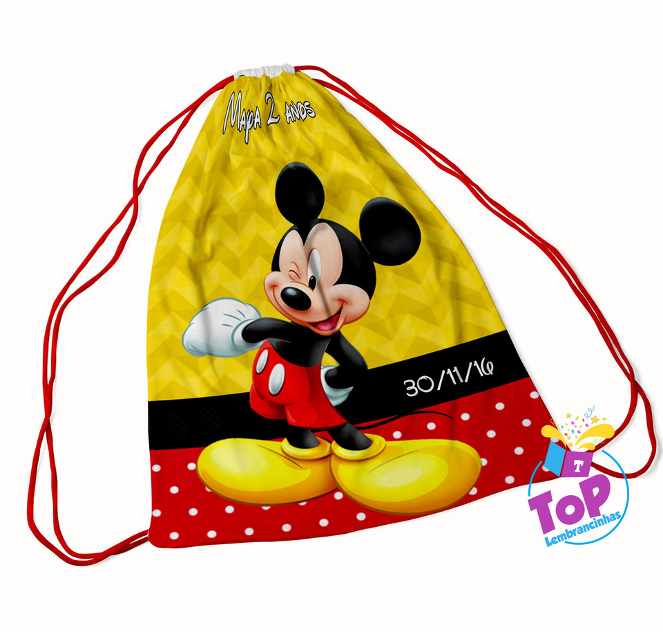 Mochila saco Mickey 20x30cm - Modelo 1