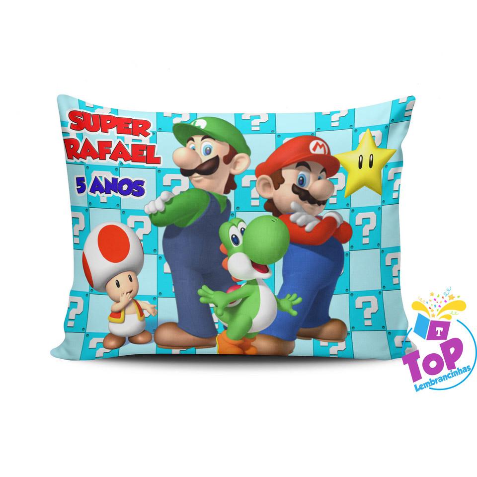 Lembrancinha Mario - Almofada personalizada 20x30cm Modelo 2