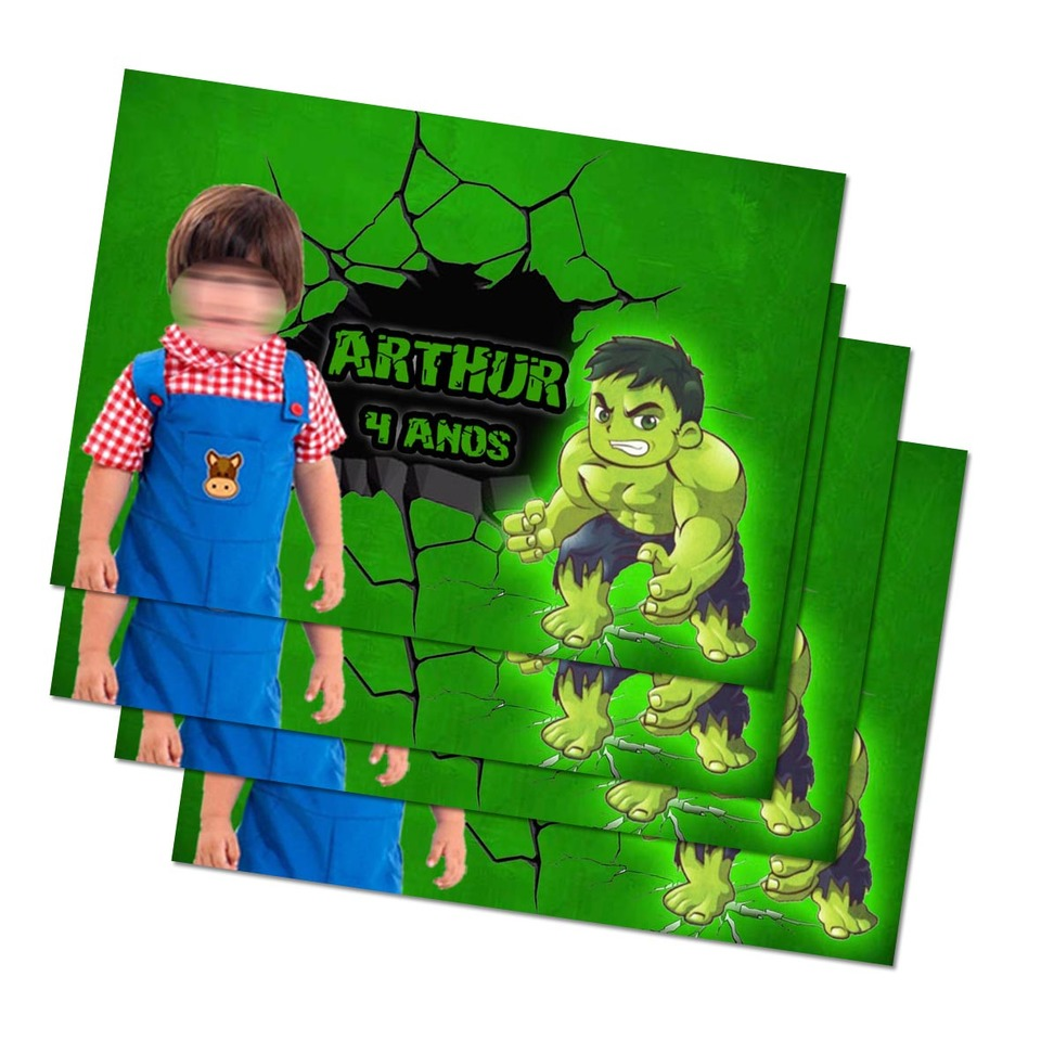 Lembrancinha Hulk - Imã de geladeira 7x5cm