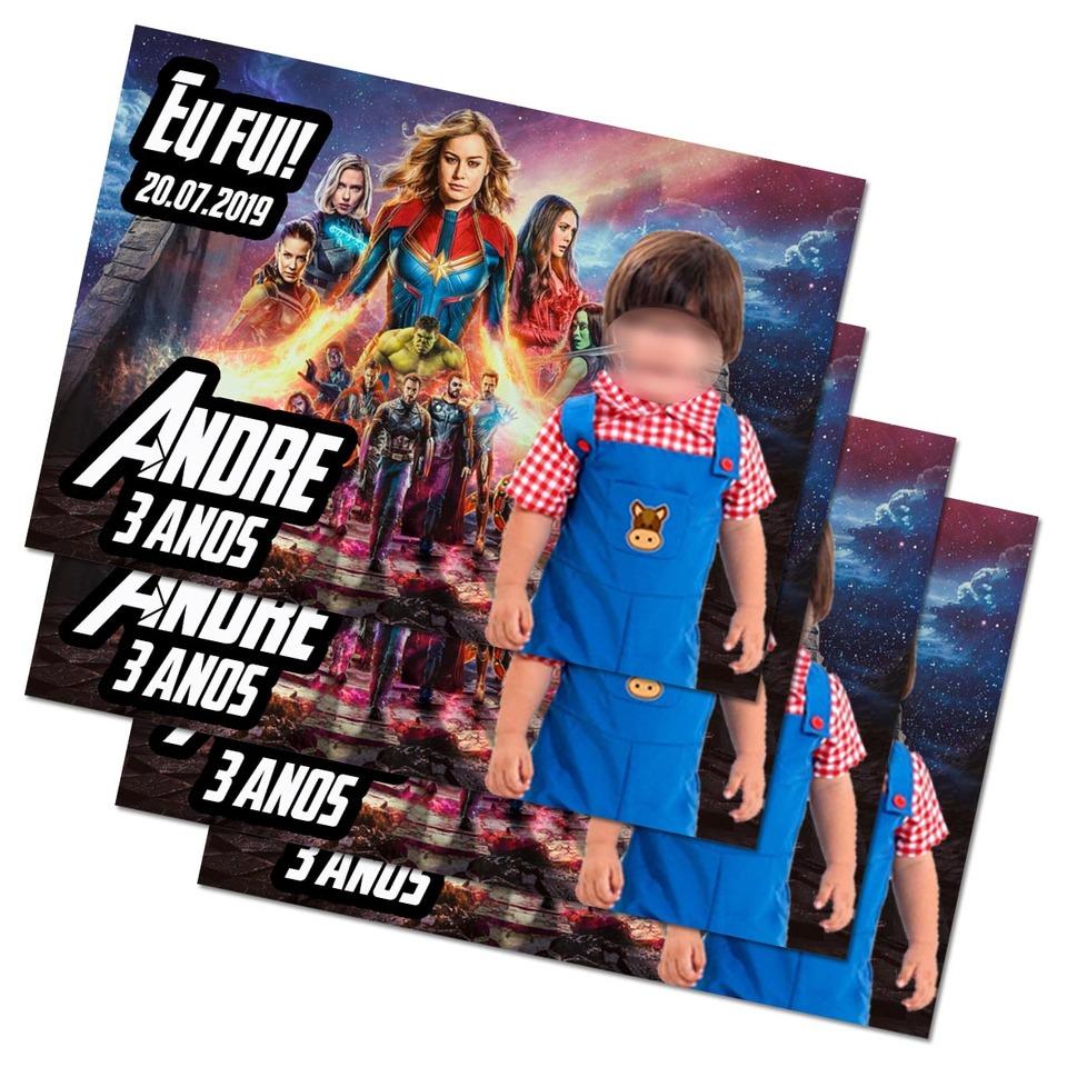 Lembrancinha Vingadores - Imã de geladeira 7x5cm