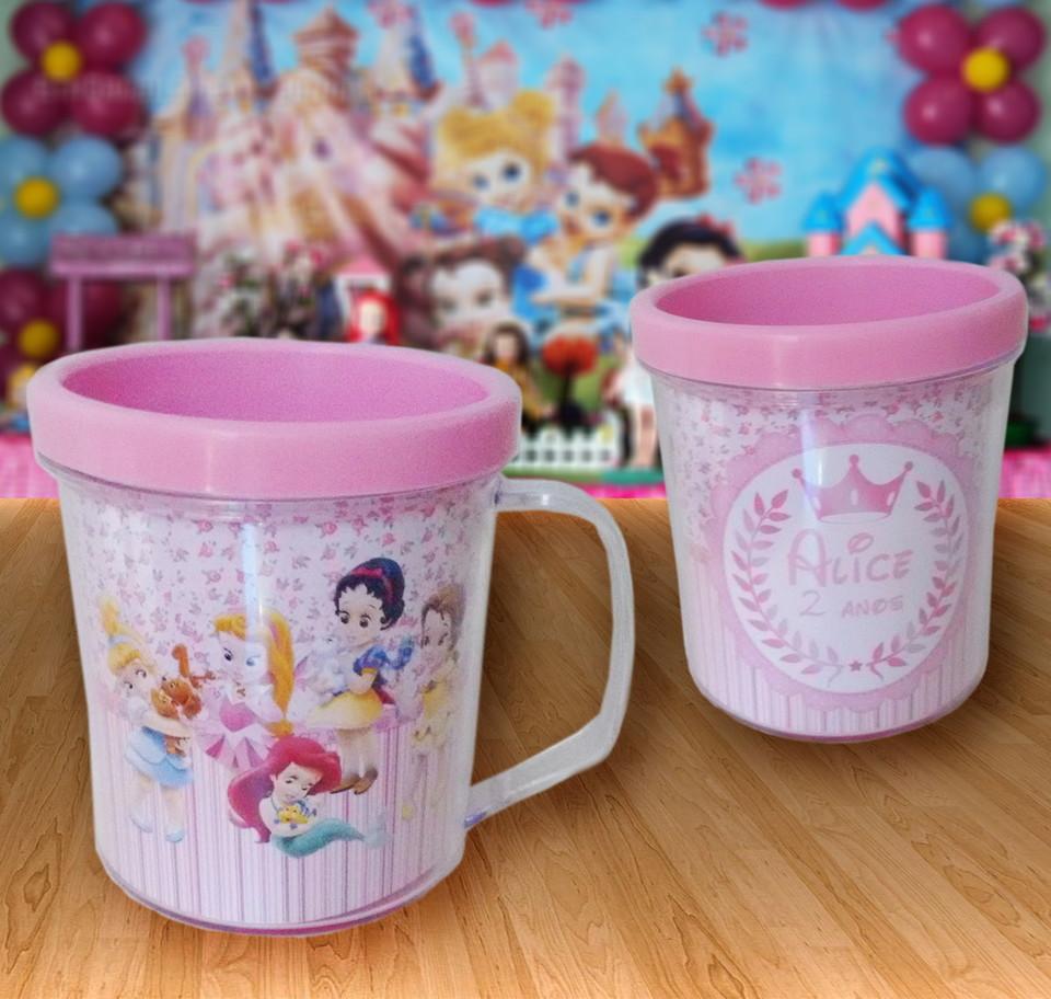 Caneca acrílica Princesas Baby Disney