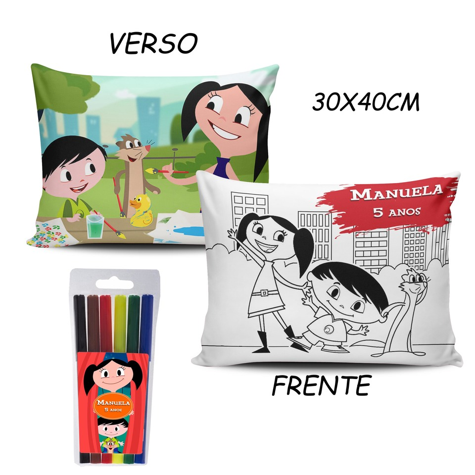 Lembrancinha Show da Luna - Almofada Pinte e Lave 30x40cm