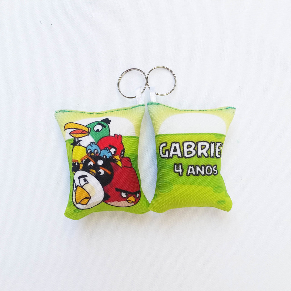 Lembrancinha Angry Birds - Almochaveiro personalizado 7x5cm