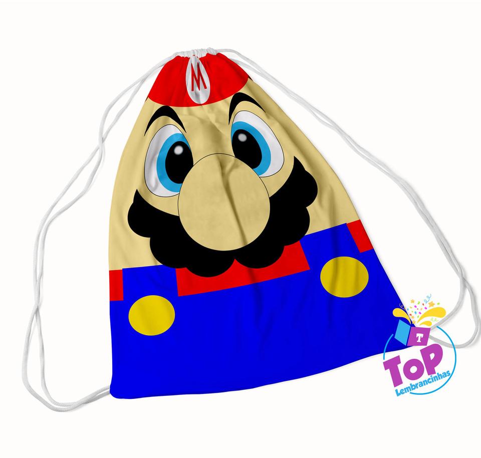 Mochila saco Super Mario 20x30cm - Modelo 1
