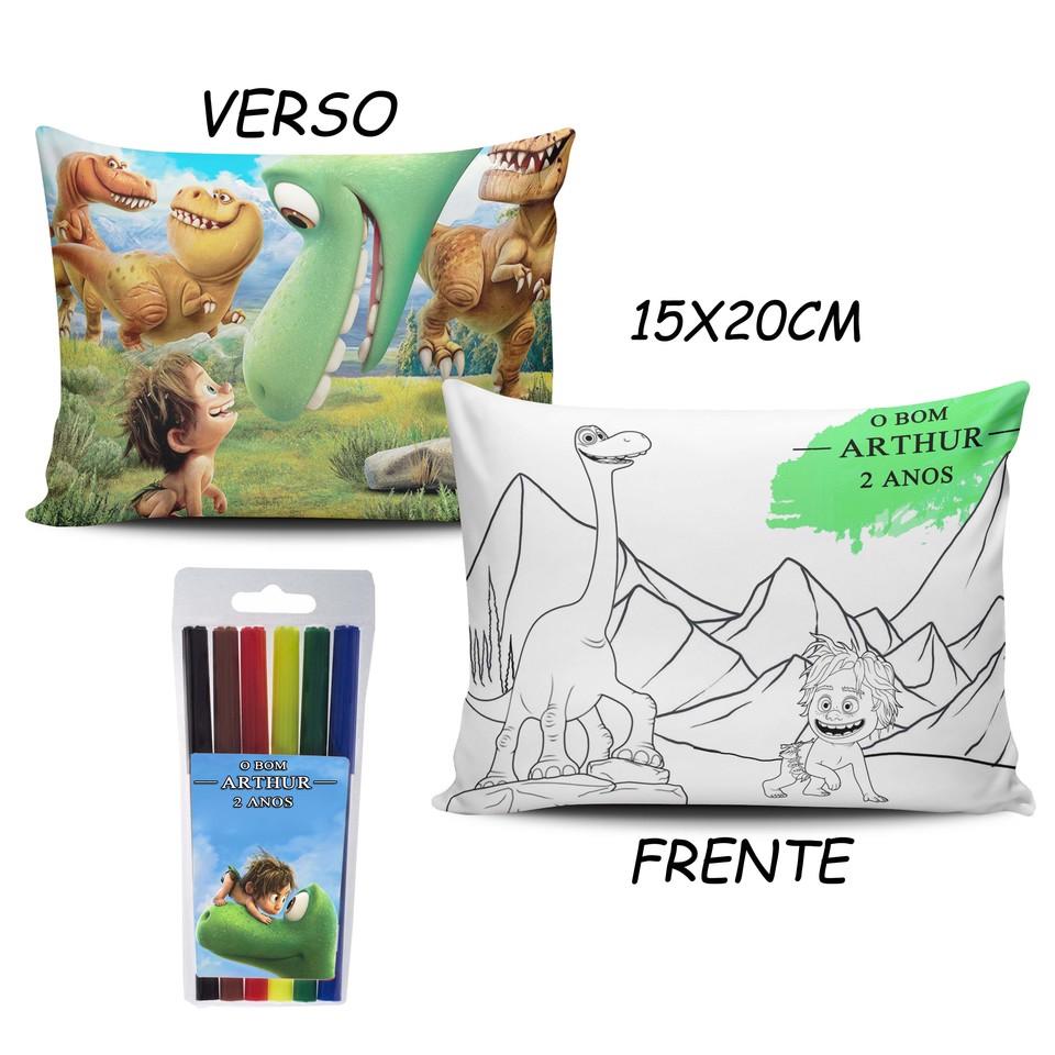 Lembrancinha O Bom Dinossauro - Almofada Pinte e Lave 15x20cm