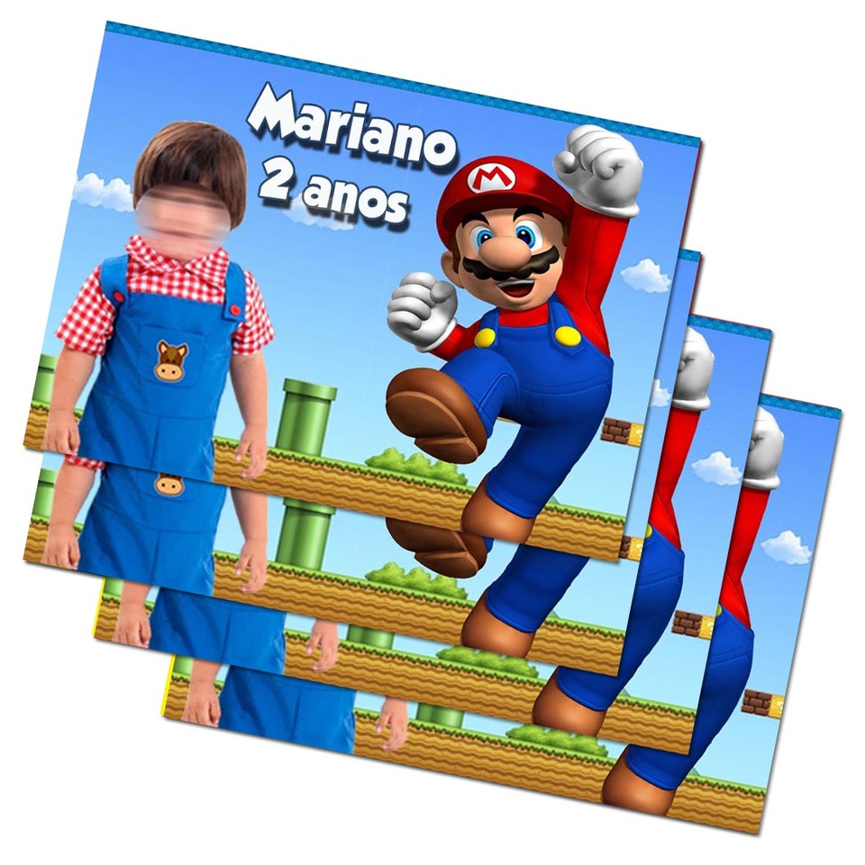Lembrancinha Super Mario - Imã de geladeira 7x5cm