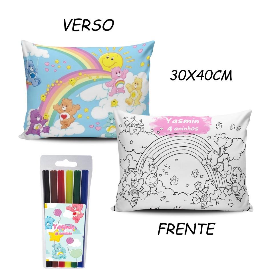 Lembrancinha Ursinhos Carinhosos - Almofada Pinte e Lave 30x40cm