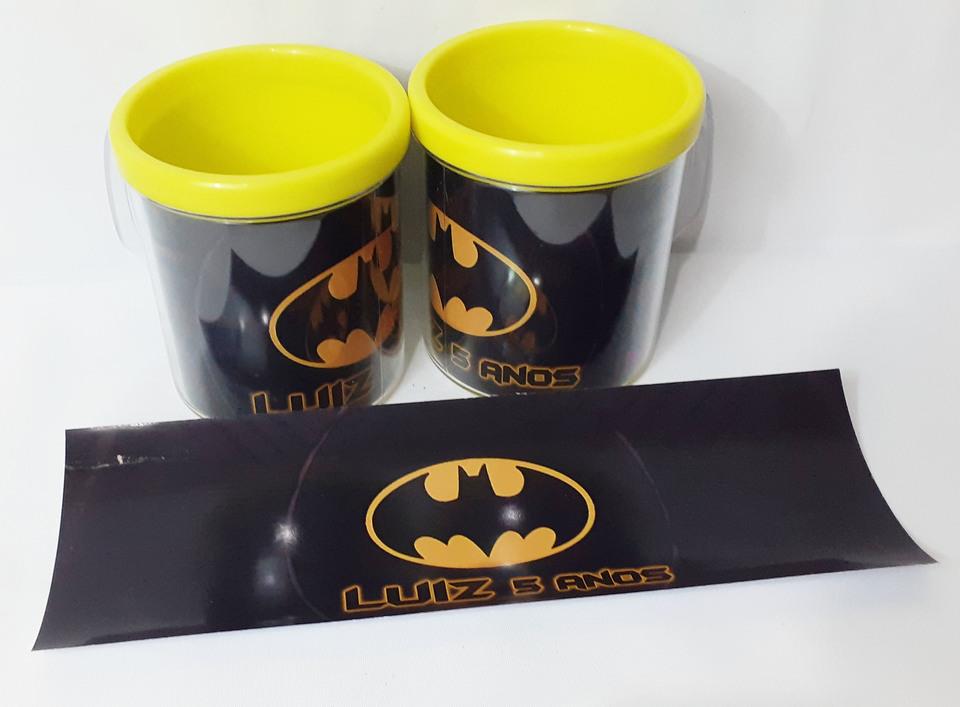 Lembrancinha Batman - Caneca de acrílico 380 ml