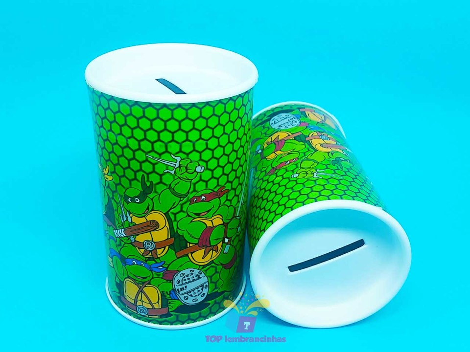 Cofrinho personalizado Tartarugas Ninjas 11x6 cm