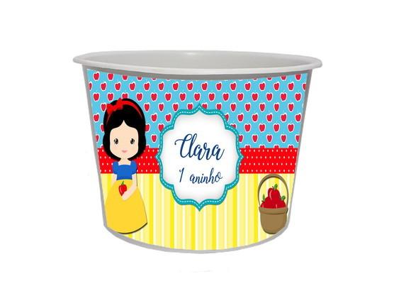 Lembrancinha Branca de Neve Baby - Baldinho personalizado 1,5L