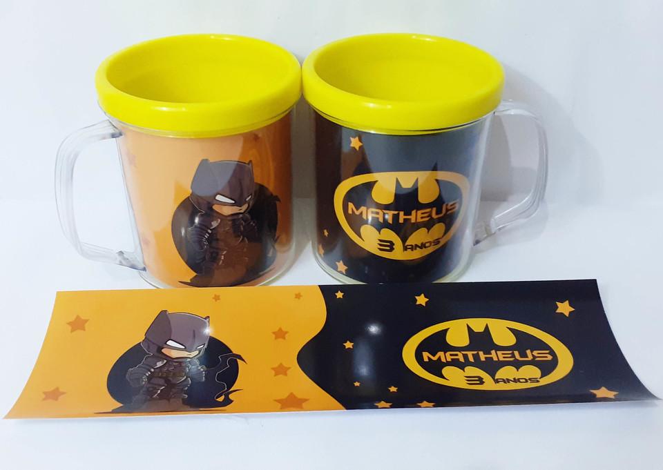 Lembrancinha Batman Baby - Caneca de acrílico 380 ml