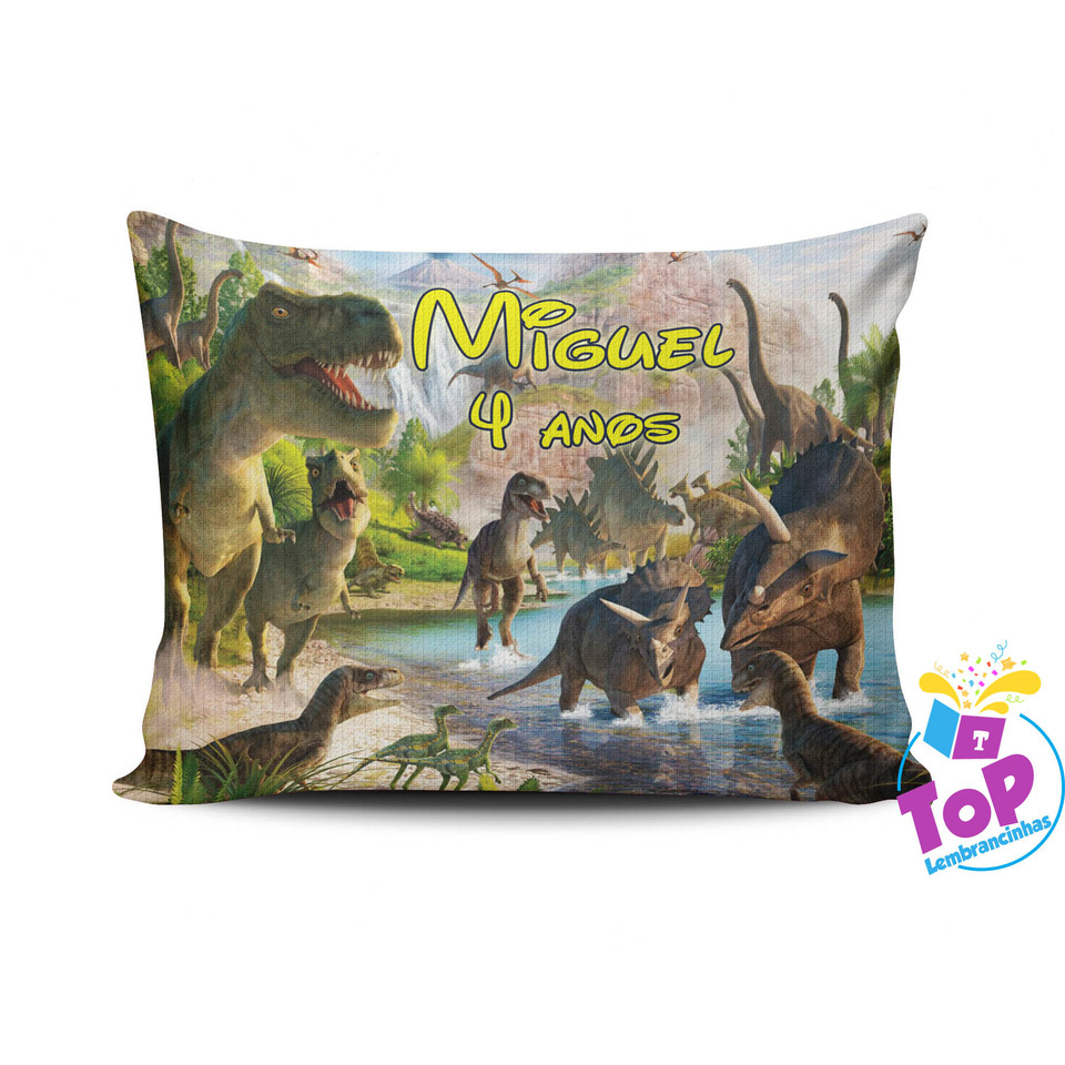 Lembrancinha Dinossauro - Almofada personalizada 15x20cm Modelo 2