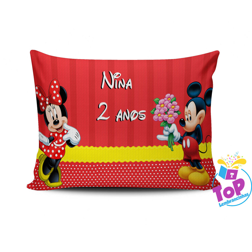 Almofada personalizada Mickey e Minnie 15x20 - Modelo 1