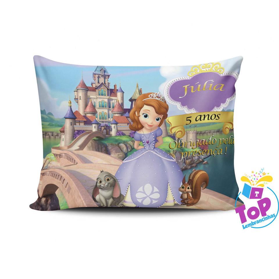Lembrancinha Princesa Sofia - Almofada personalizada 20x30cm Modelo 4