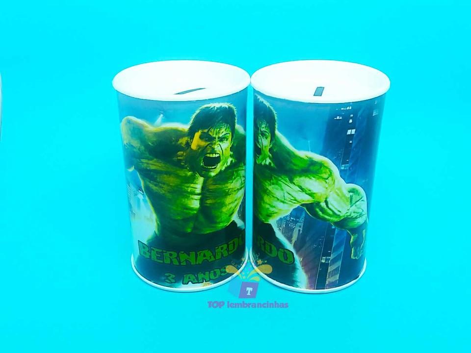 Cofrinho personalizado Hulk11x6 cm