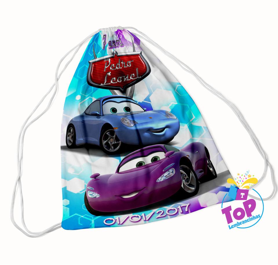 Mochila saco Carros Disney 20x30cm - Modelo 5