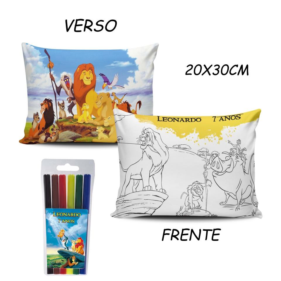 Lembrancinha Rei Leão - Almofada Pinte e Lave 20x30cm Modelo 2