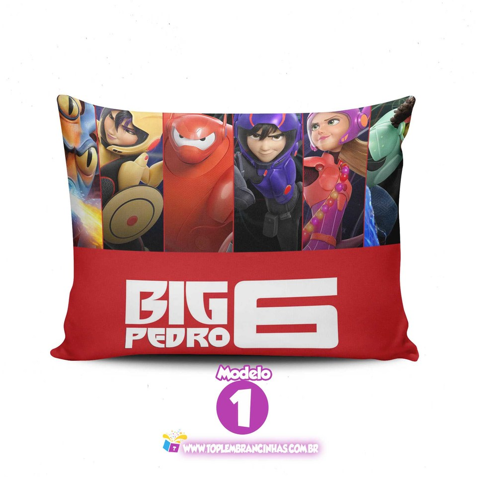 Lembrancinha Big Hero - Almofada personalizada 15x20 cm