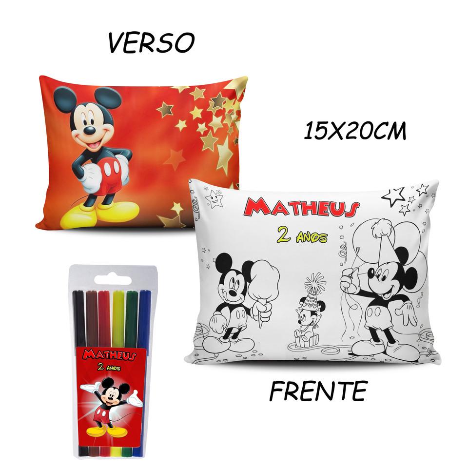 Lembrancinha Mickey - Almofada Pinte e Lave 15x20cm