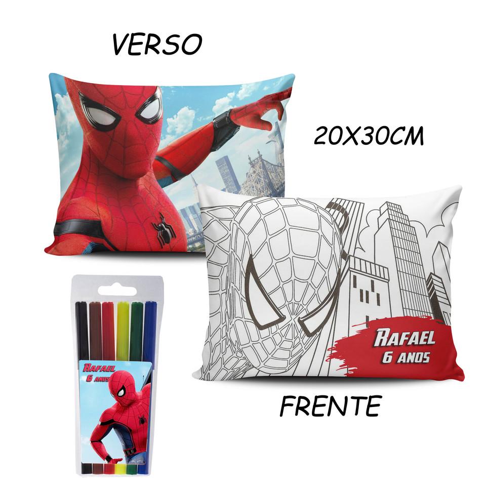Lembrancinha Homem Aranha - Almofada Pinte e Lave 20x30cm Modelo 2