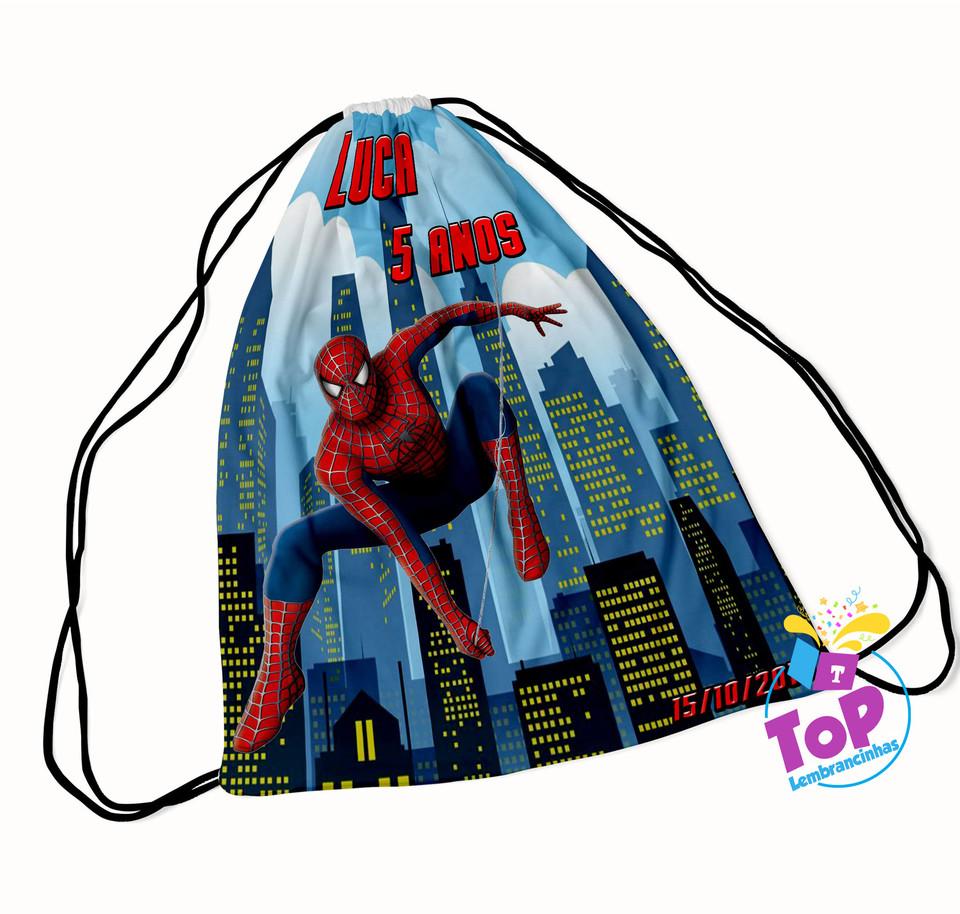 Mochila saco Homem Aranha 20x30cm - Modelo 1