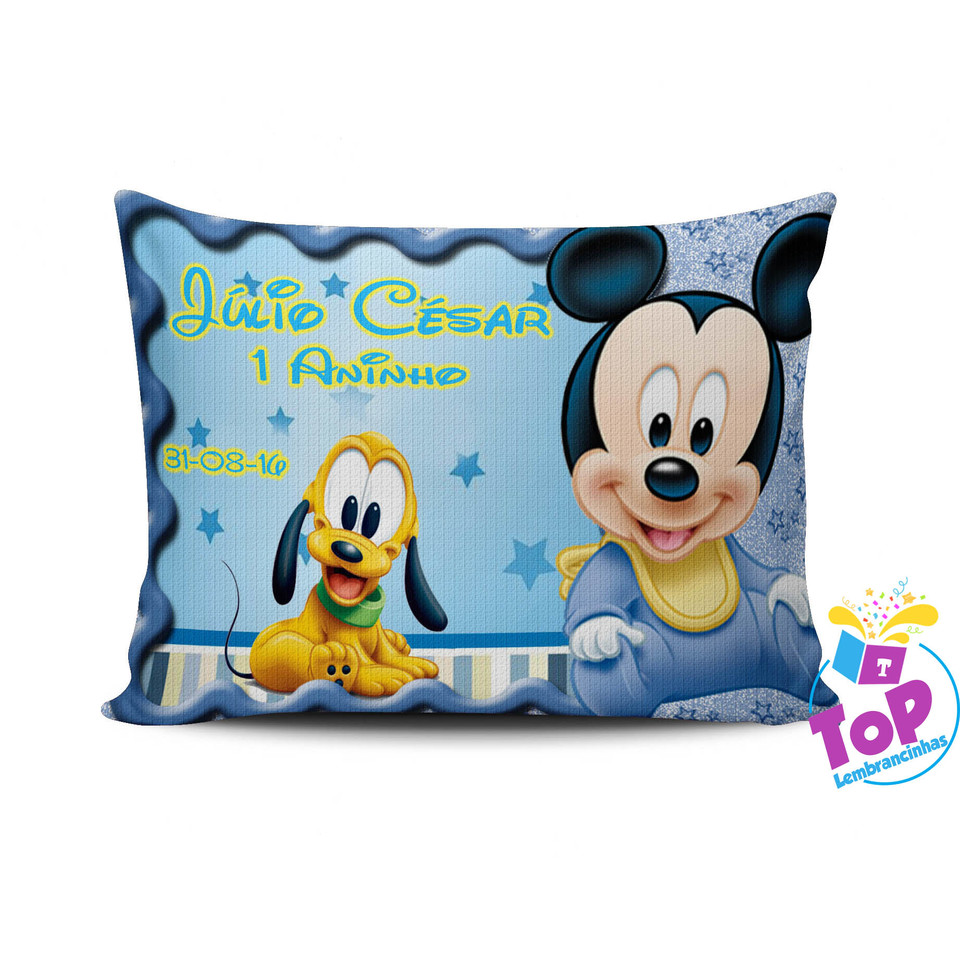 Lembrancinha Mickey Baby - Almofada personalizada 20x30cm