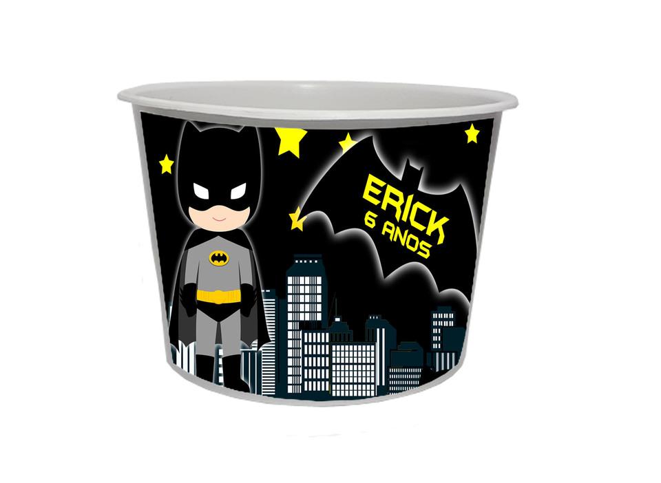 Lembrancinha Batman baby - Balde de pipoca personalizado 1,5L