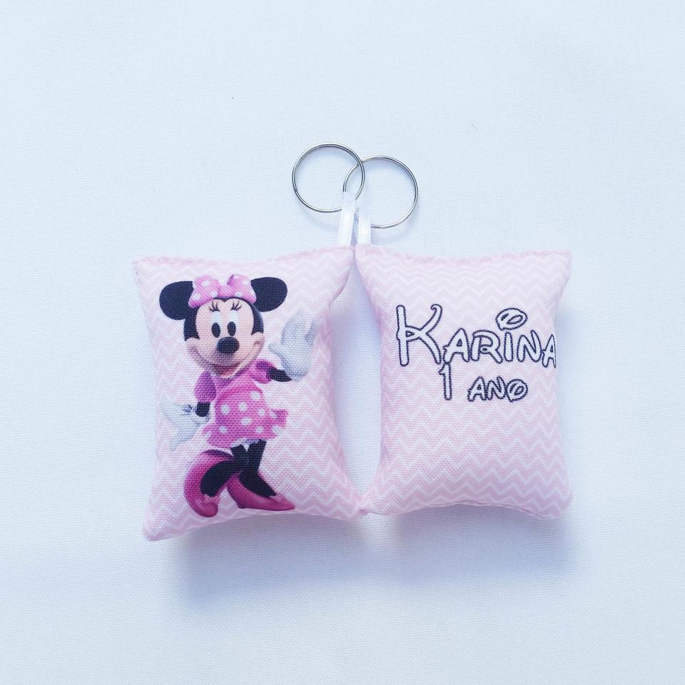 Almochaveiro personalizado Minnie Rosa 7x5cm