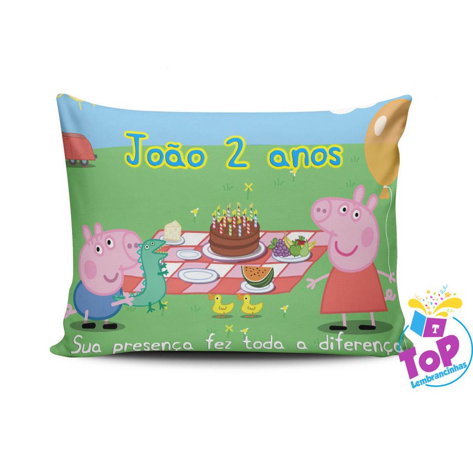 Almofada personalizada Peppa Pig 15x20cm