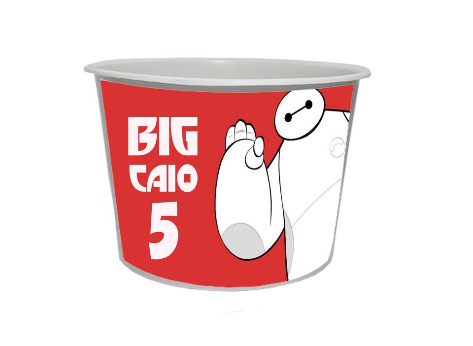 Lembrancinha Big Hero - Baldinho de pipoca 1,5L