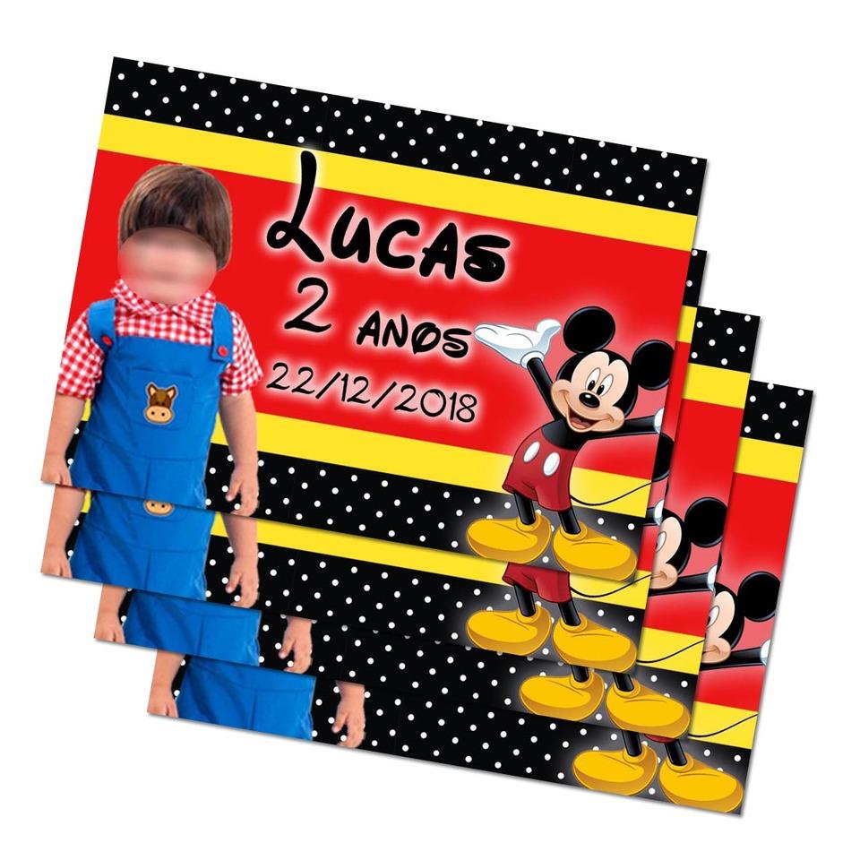 Lembrancinha Mickey - Imã de geladeira 7x5cm