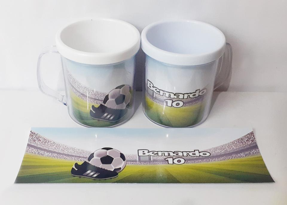 Lembrancinha Futebol mod 2 - Caneca de acrílico 380 ml