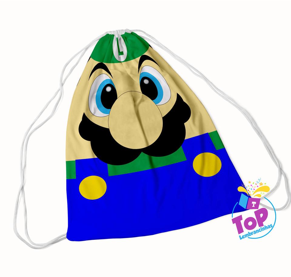 Mochila saco Super Mario 30x40cm - modelo 1